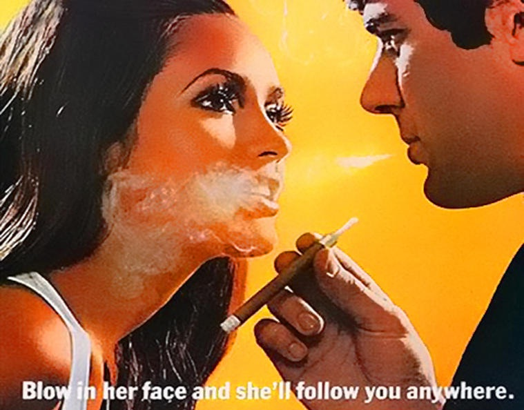 smoke in her face
