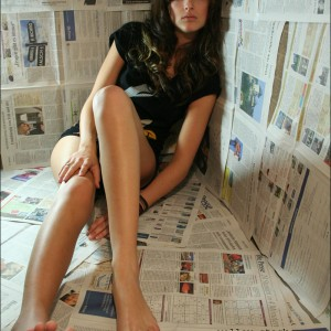 hot newspaper girl