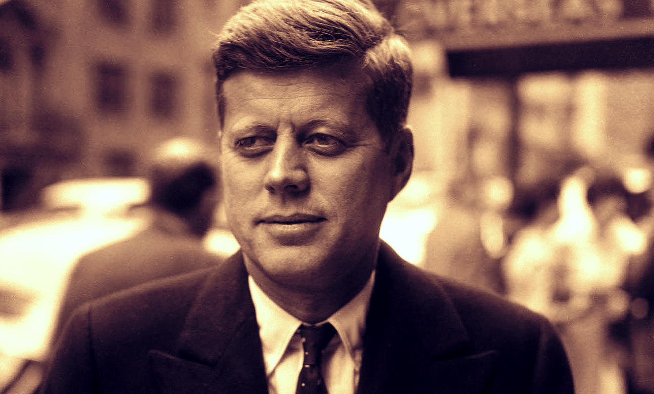 Excited President john f kennedy