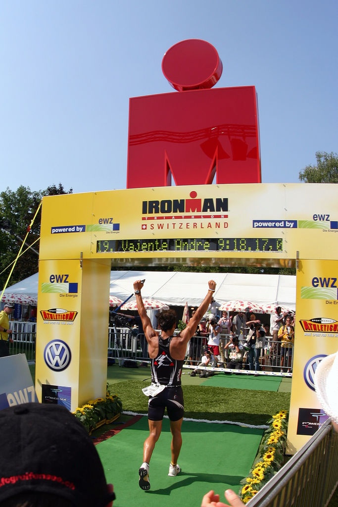 Ironman Finish Josh Gray
