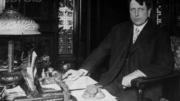 William Randolph Hearst At Seated Desk
