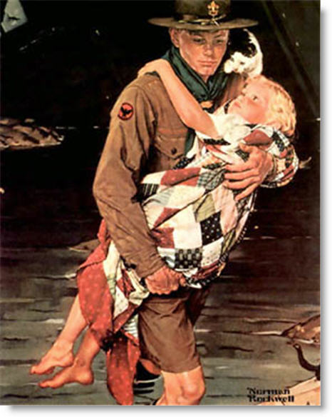 norman-rockwell-scout-is-helpful-boys-life-1941
