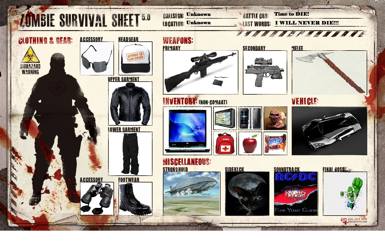 The gallery for --> Zombie Survival Gear