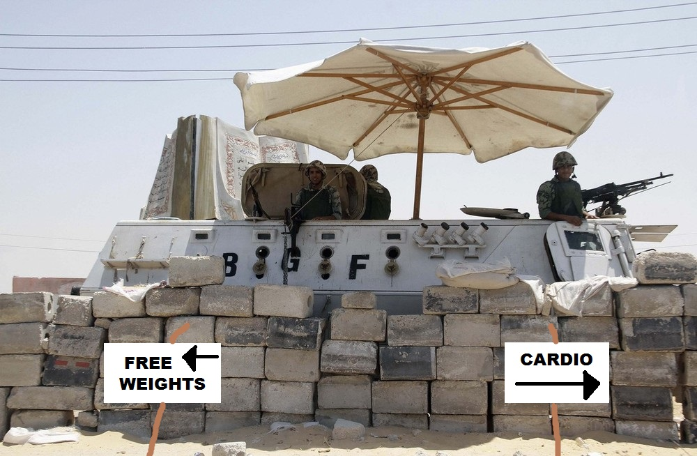 An Egyptian soldier stands guard at a checkpoint in Rafah city on the Egyptian border
