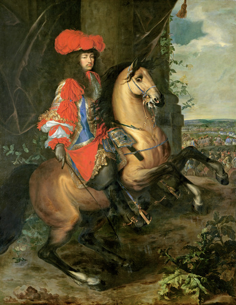 Equestrian Portrait of Louis XIV (1638-1715) (oil on canvas)