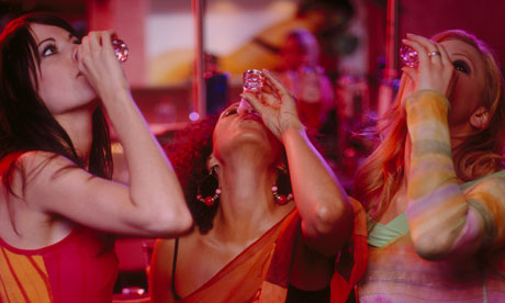 Women Drinking Shots at Nightclub