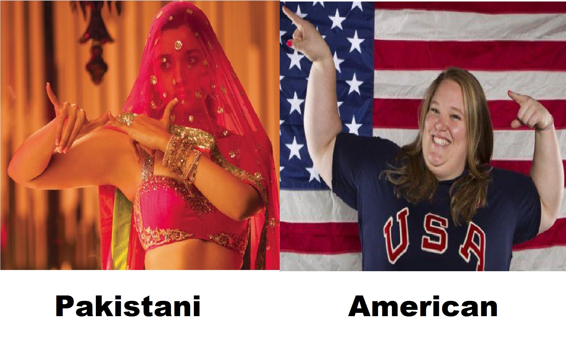 Pakistani vs American woman