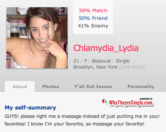 female dating profile description