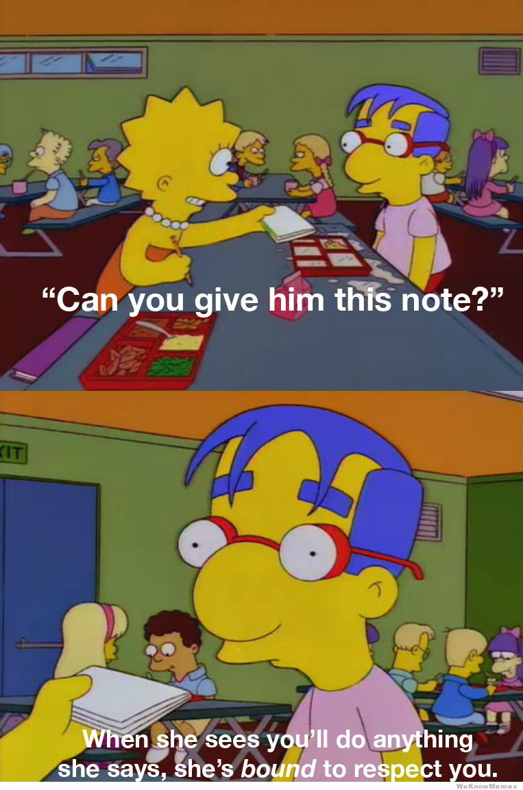 milhouse friendzone