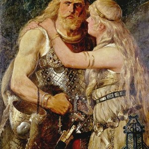 Norse-man-and-woman-by-Johannes-Gehrts-1884