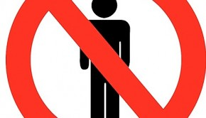 No men sign
