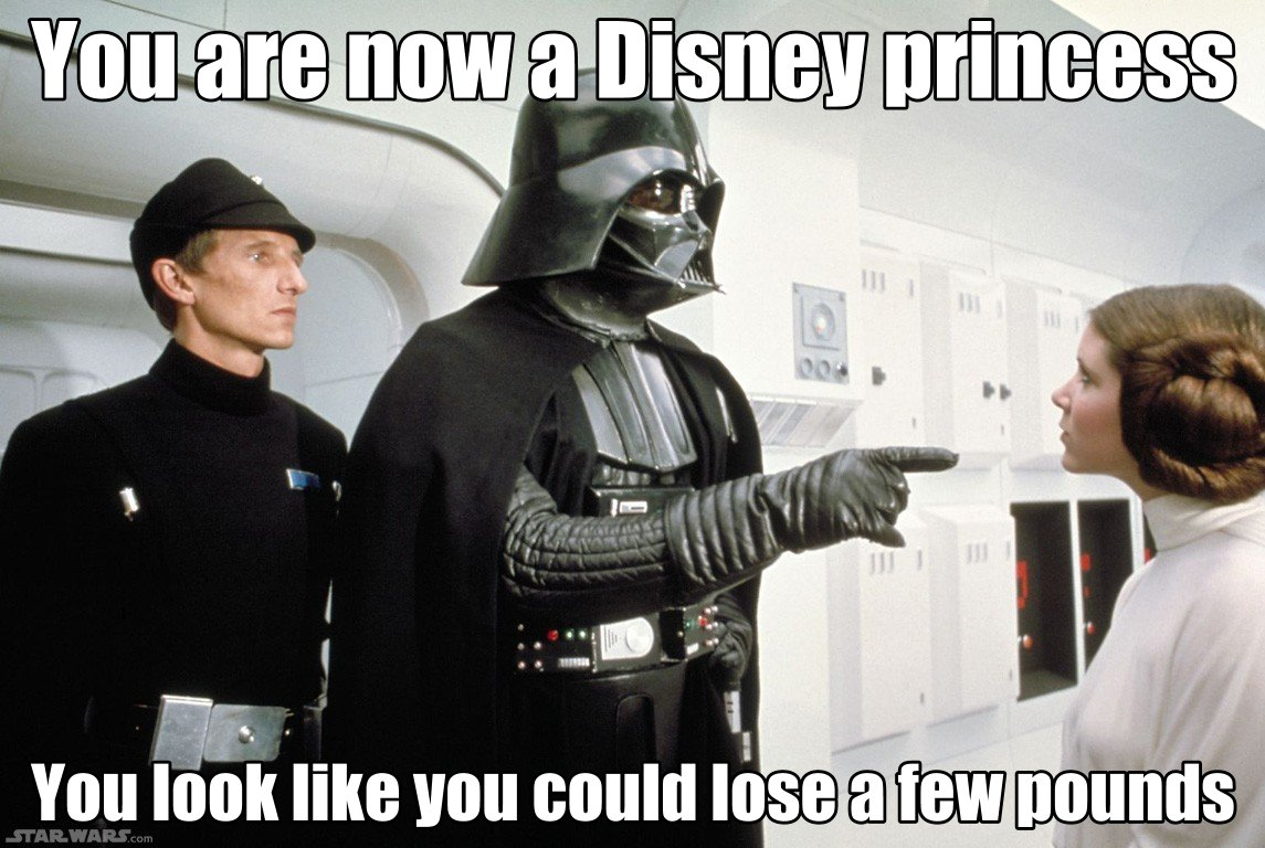fat shaming darth vader disney princess