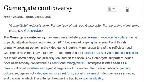 wiki gamergate article