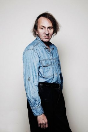 Houellebecq looking well, yesterday.