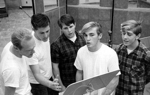 Mike Love, Brian Wilson, Carl Wilson, Dennis wilson, and David Marks, 1962. Al Jardine had briefly quit the band, and Bruce Johnston hadn't joined until 1965.