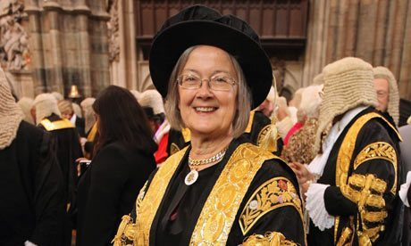 Twice-divorced, male-hating Feminist activist judge of the UK Supreme Court, Lady Brenda Hale