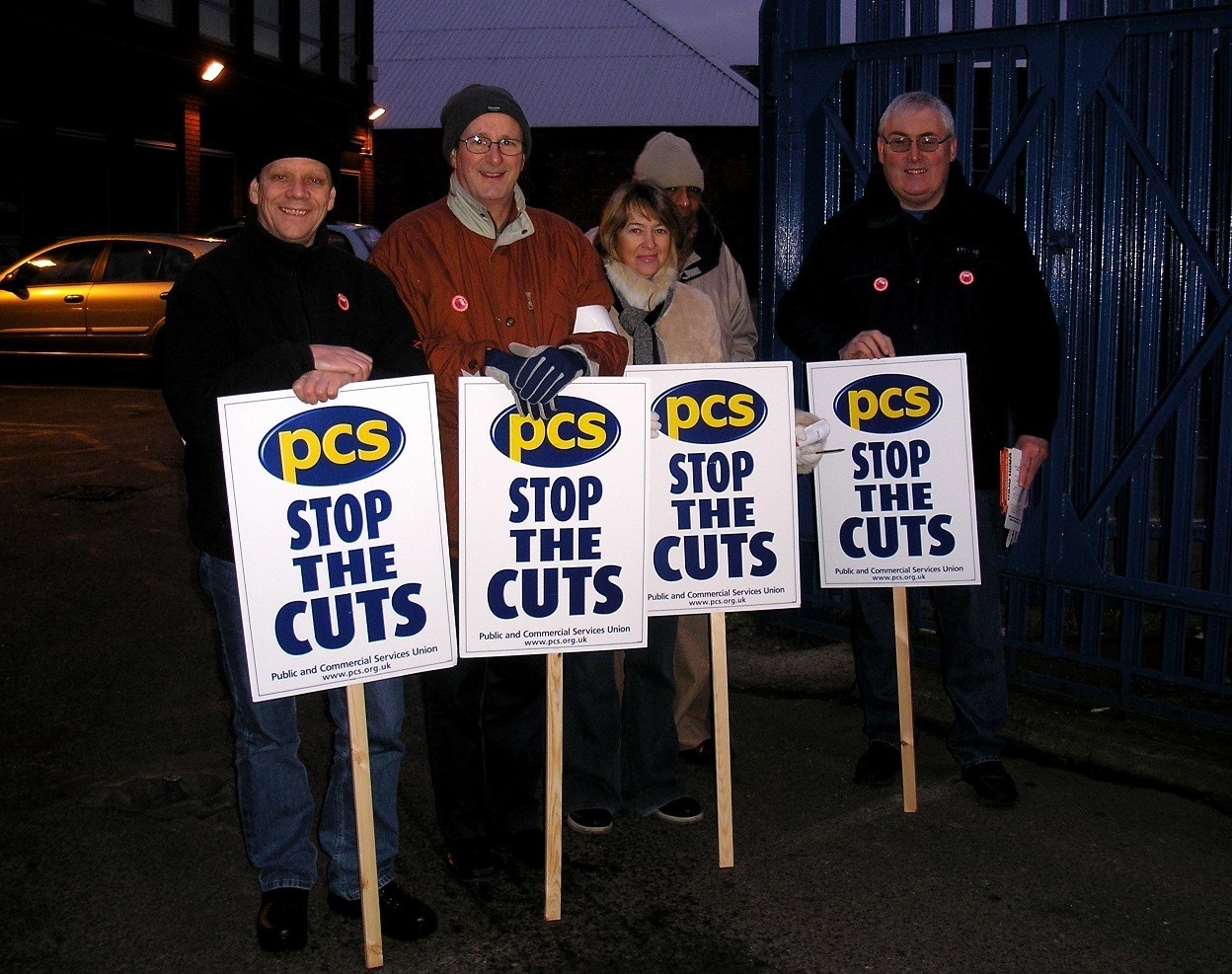 PSC_members_on_strike