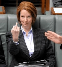 Julia Gillard finger