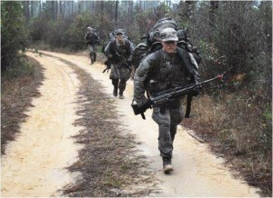 Everyone carries their own load in Ranger school - at least for now.