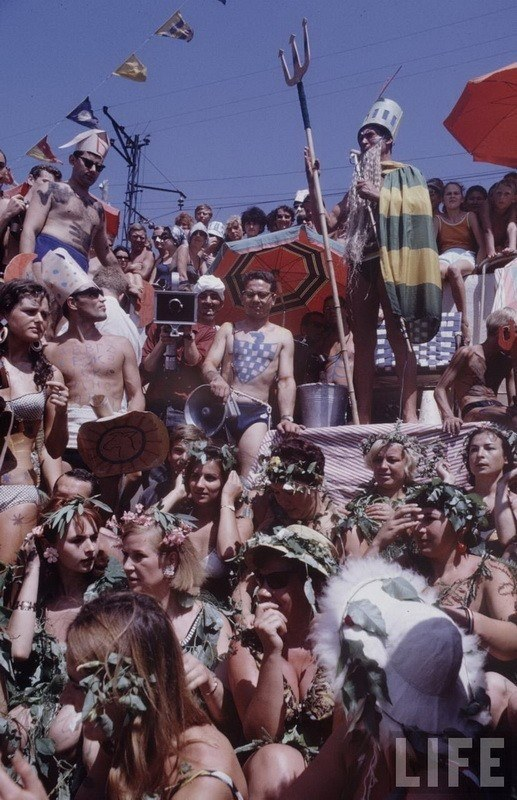 Costumed summer party in USSR in the 60's
