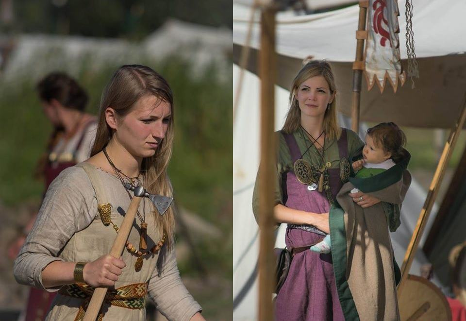 Random Polish girls during a Slavic festival. They cook and bring water to the men