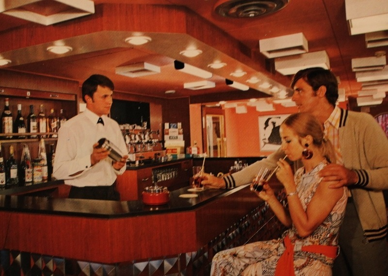 Scene on a cruise ship during the Soviet times