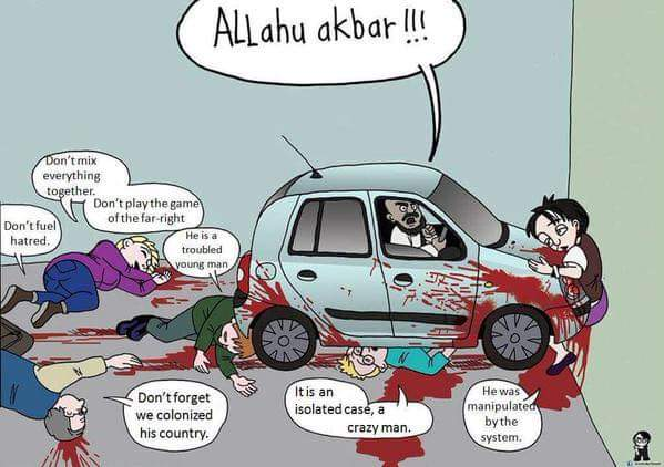 Image result for islam attack eu cartoon
