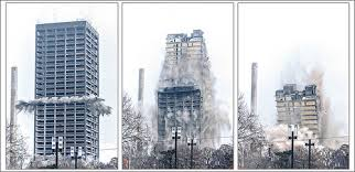 Buildings are brought down all the time via controlled demolition