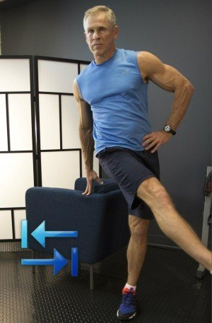 Leg swings (side to side)
