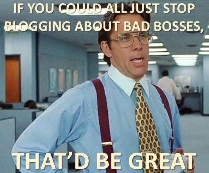 good boss versus bad boss Efficient supervisors vs inefficient supervisors are you employed - good boss vs bad boss introduction if you are then you must have a supervisor now a day the majority of the employed population has a person looking after them or a supervisor.