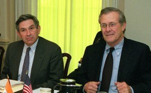Paul Wolfowitz and Donald Rumsfeld, spinning fantasies into reality