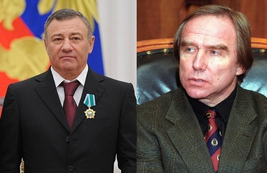 Arkady Rotenberg (left) and Sergeï Roldugin (right)