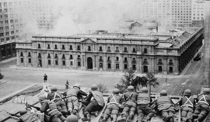 The U.S. backed overthrow of another democratically elected government in Chile; the siege of the Presidential palace by General Pinochet's forces