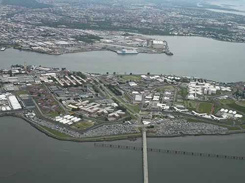 "Rikers Island, the prison complex where one can find New York's most expensive apartments (Business Insider, ""New York's Most Expensive Apartments Are Jail Cells,"" August 23, 2013)"