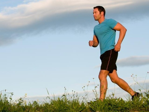 man-jogging--exercise--health--blue-sky---17899064
