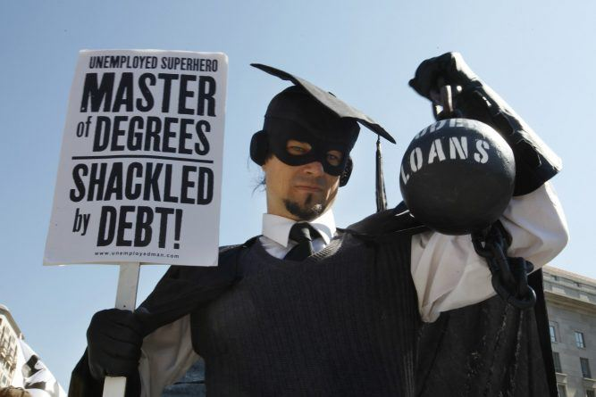 """Several groups including the Peoples Uprisings, October2011 Coalition, and Occupy DC, """"occupy"""" Freedom Plaza in Arlington, on Thursday, Oct. 6, 2011. The groups held signs against war and """"corporate greed."""" (AP Photo/Jacquelyn Martin)"""