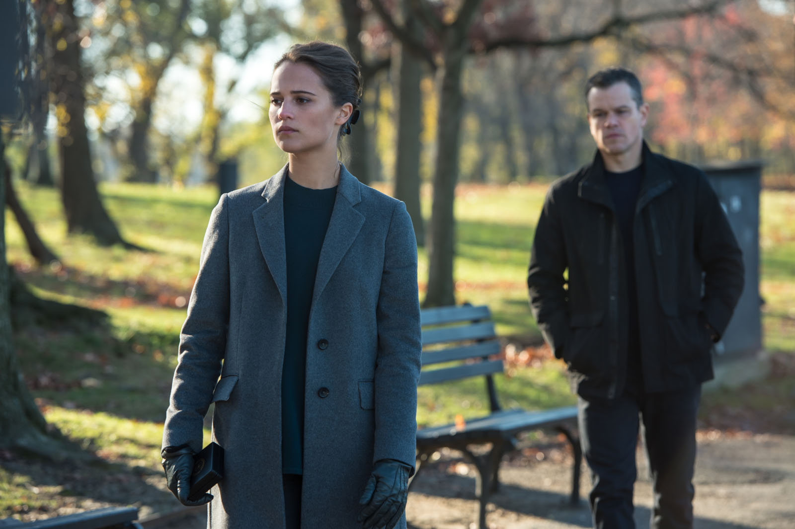 "Heather (Vikander) and Bourne (Damon) are each other's foils in ""Jason Bourne""."