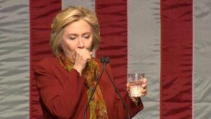 Unexplained coughing fits have plagued Hillary throughout her campaign