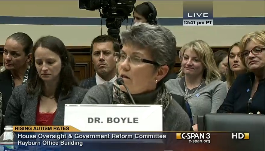 "From archival footage in ""Vaxxed"": CDC drudge Coleen Boyle testifying to congress."