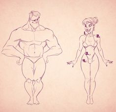 ideal male and female form