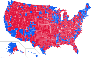 "The blue ""Democrat"" areas are mostly the Lily White (and clueless) Northeast, major metropolitan areas, the ""Black Belt"" in the south and areas with large Hispanic populations"