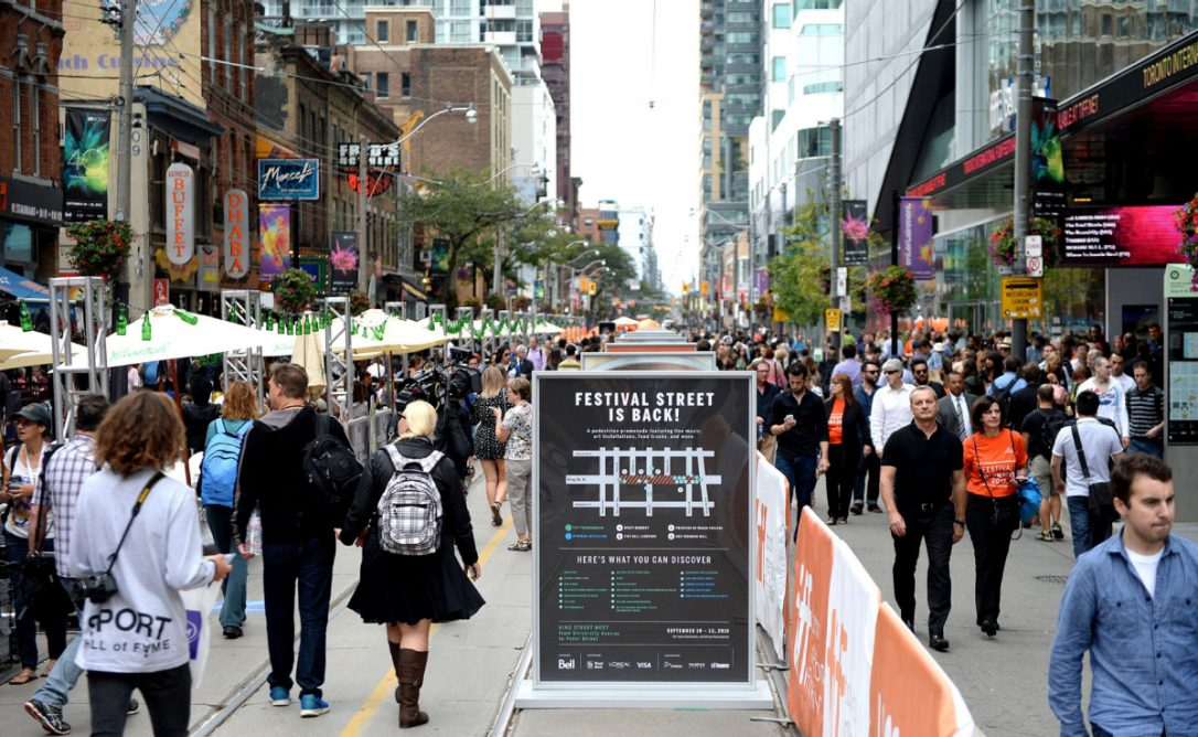 While the TIFF street festival is a new and nimble way to cross town, it is also a hotspot for deluded protesters and pesky pedlars.