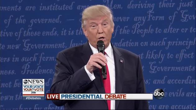 "Trump may have nearly ate his microphone at the 2nd Presidential Debate, but he still came on top with his ""you'd be in jail"" rebuke."