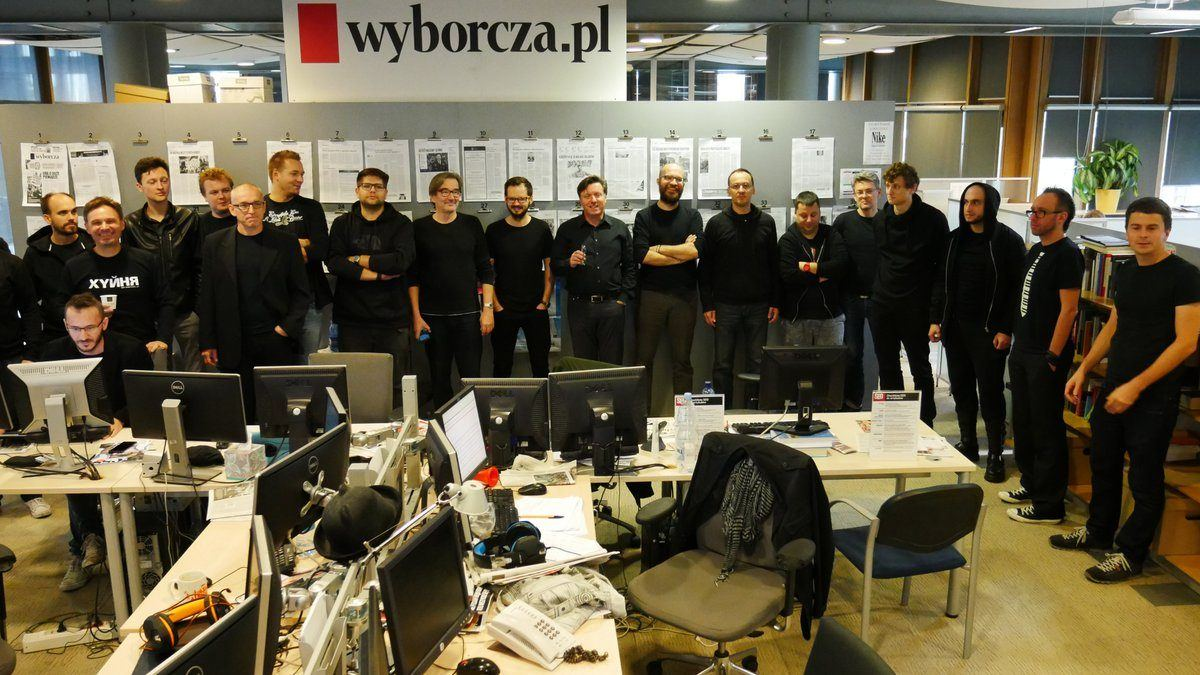 The squad of manginas working at Gazeta Wyborcza, left-wing journal which was financed more than a few times by George Soros