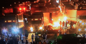 Rioters broke into trucks on I-85 and burned cargo in Charlotte