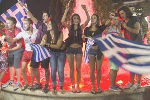Celebrating Mysery, Lies and Corruption: The modern Greek youth has no idea. The photo is from a rally of SYRIZA.