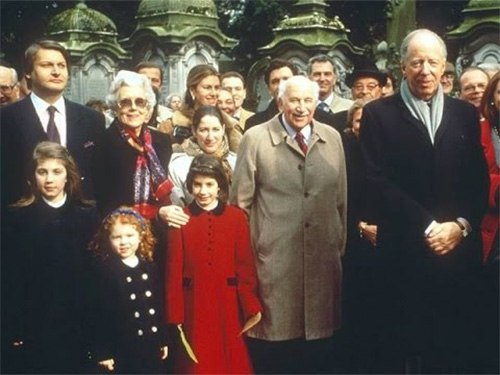Part of the Rothschild family, where nepotism and consanguinity keep the money in