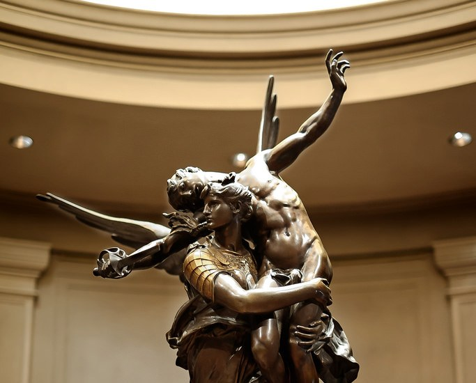 """Glory to the vanquished"", Antonin Mercié, 1874 (copy)"