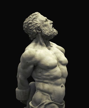 Prometheus, creator of mankind, looks upward