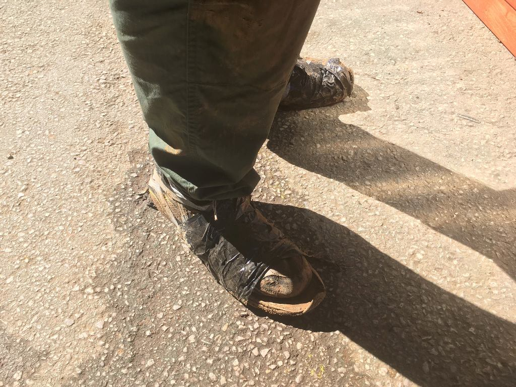 How To Duct Tape Shoes For Mud Run